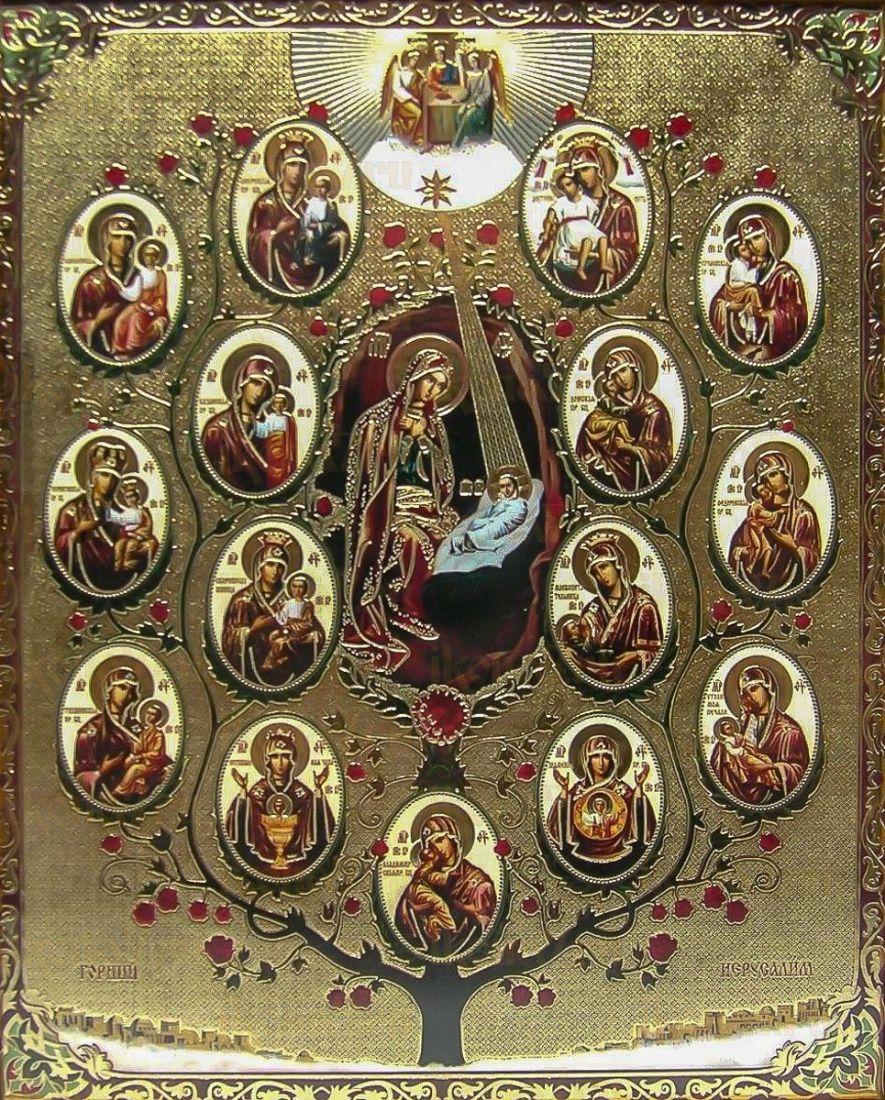 Древо Пресвятой Богородицы (Горний Иерусалим) (икона на дереве)