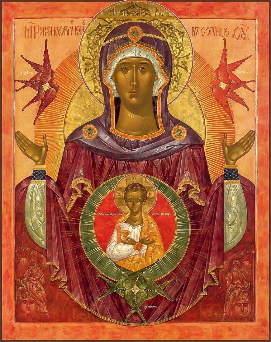 Икона Жена Облеченная в Солнце (копия старинной)