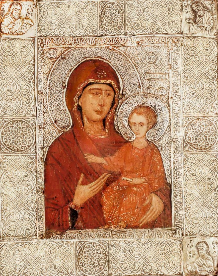 Елеоточивая (Элеовритисса) икона Божией Матери (копия старинной)