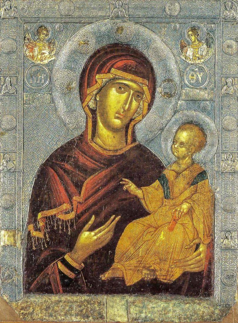 Душеспасительница (Психосострия) икона Божией Матери (копия старинной)