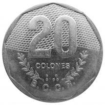 Коста-Рика 20 колон 1985 г.