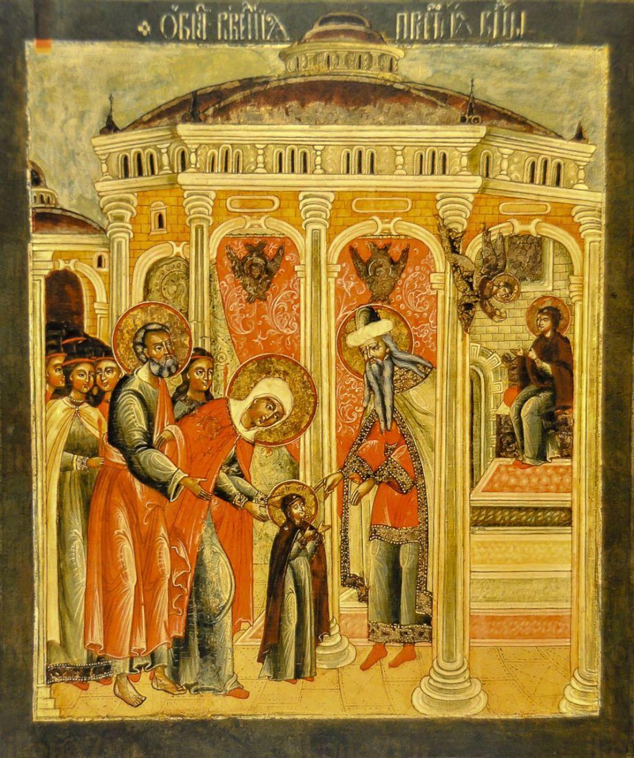Введение во храм Пресвятой Богородицы (копия старинной иконы)