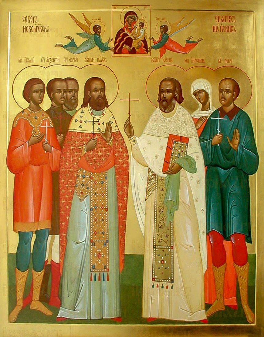 Шуйские новомученики (икона на дереве)