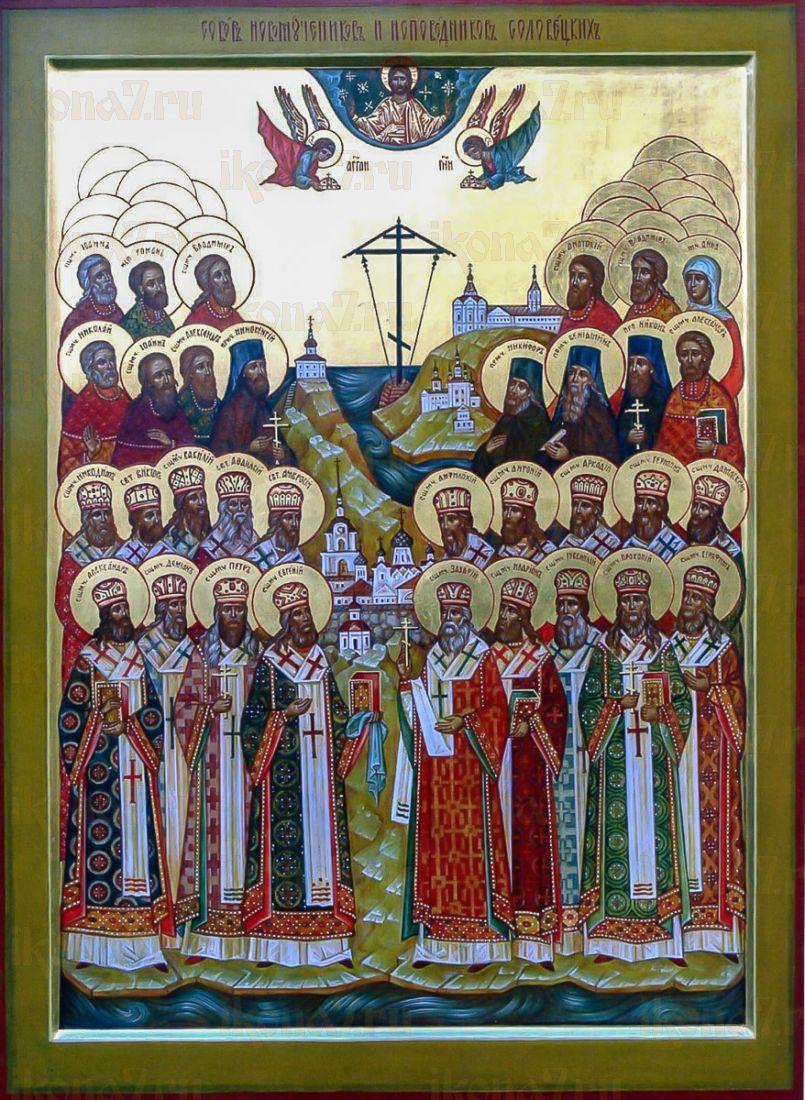 Икона Соловецкие новомученики