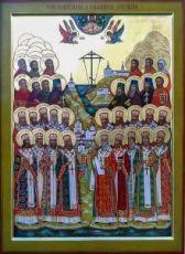 Соловецкие новомученики (икона на дереве)