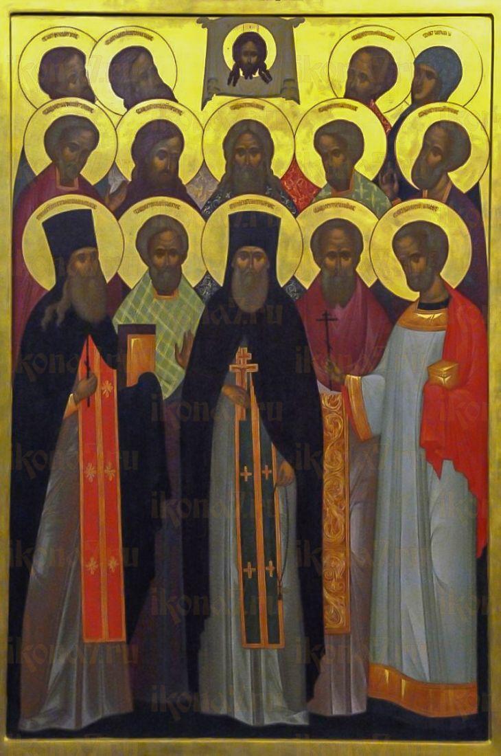 Одинцовские новомученики (икона на дереве)