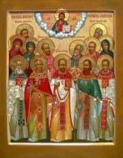 Клинские новомученики (икона на дереве)