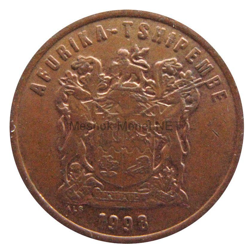 ЮАР 2 цента 1998 г.