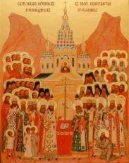 Казахстанские новомученики (икона на дереве)
