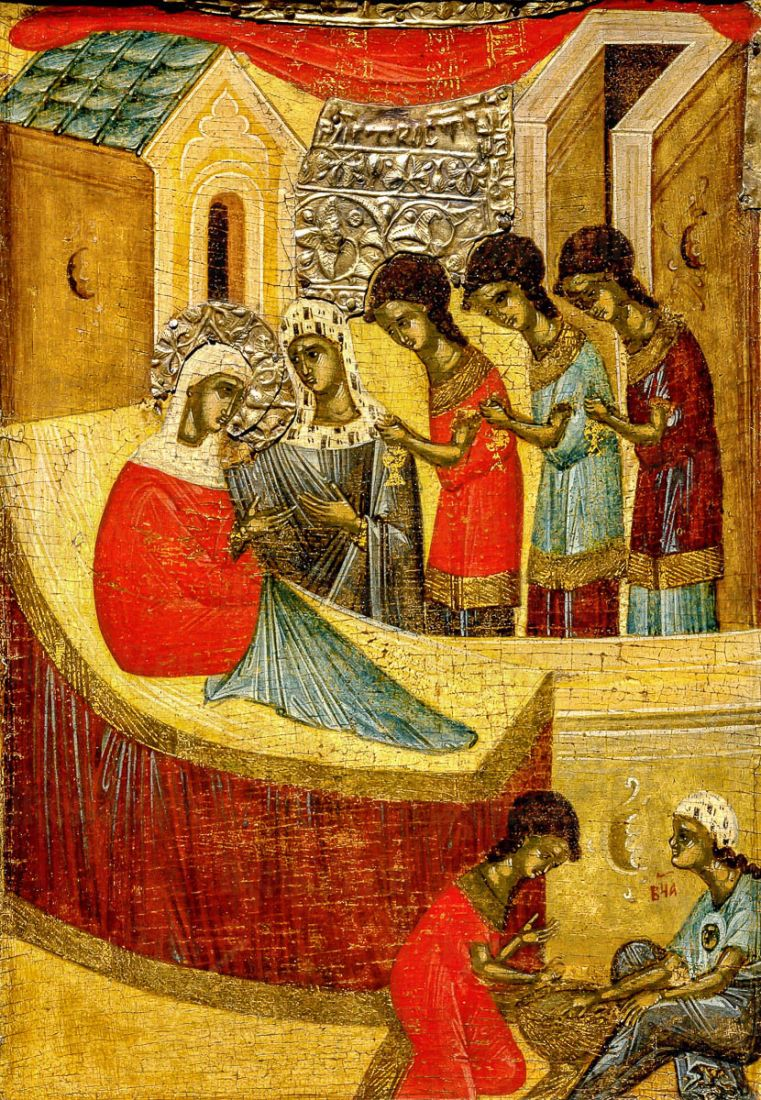 Икона Рождество Пресвятой Богородицы (копия 15 века)