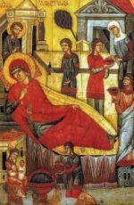 Икона Рождество Пресвятой Богородицы (копия 14 века)