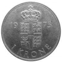 Дания 1 крона 1975 г.