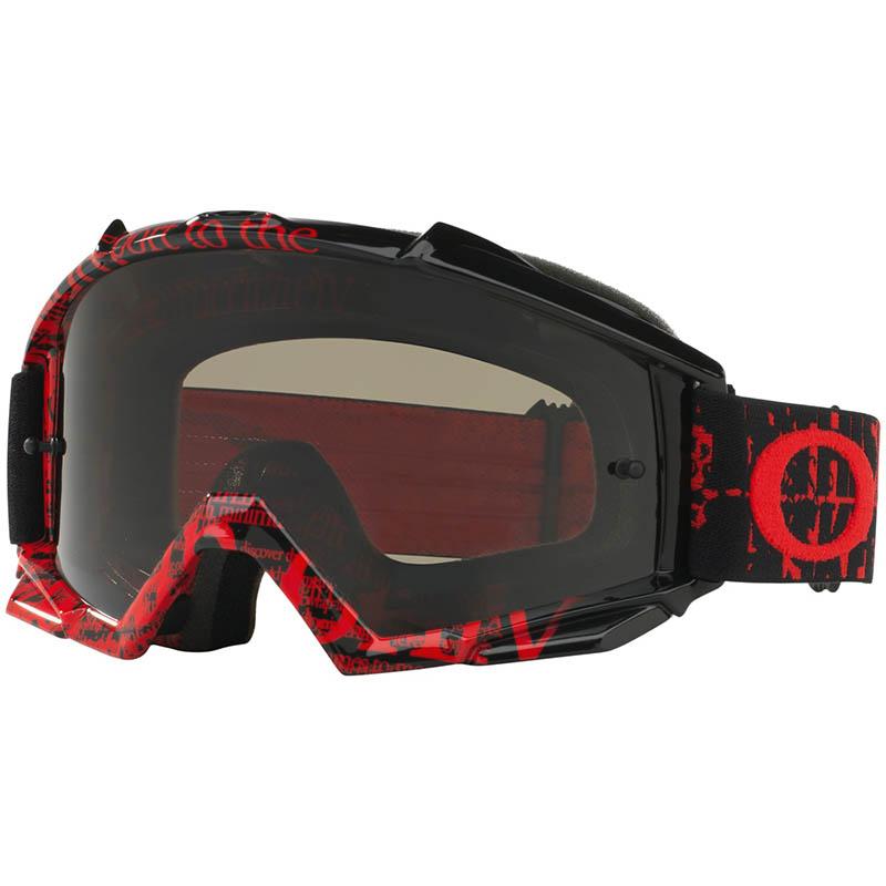 Oakley - Proven Tagline Black очки красно-черные, линза темно-серая