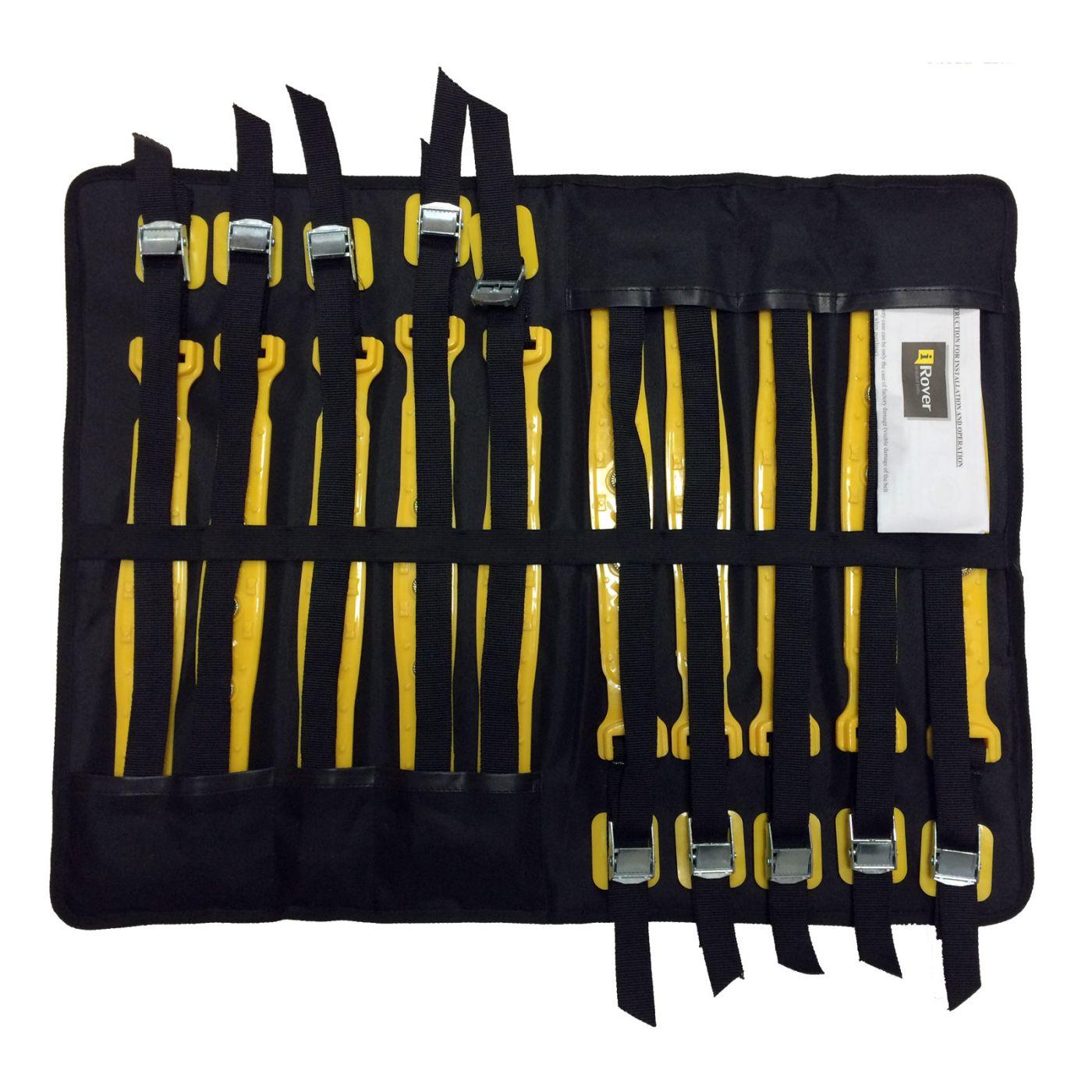 iRover  Ремень противоскольжения (полиуретан с шипами) комплект 10 шт. желтый