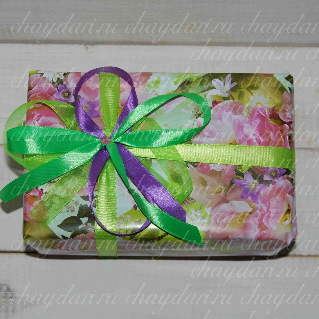 """Коробка из чая и шоколада """"Яркая весна"""""""