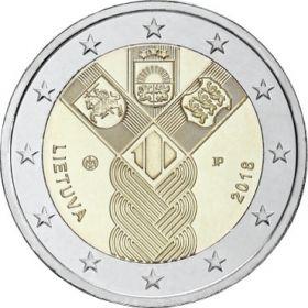 100 лет независимости прибалтийских государств 2 евро Литва  2018