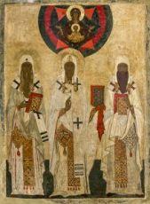 Икона Леонтий, Исайя и Игнатий Ростовские (копия старинной)