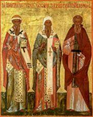 Икона Исаия, Игнатий и Авраамий Ростовские (копия 16 века)