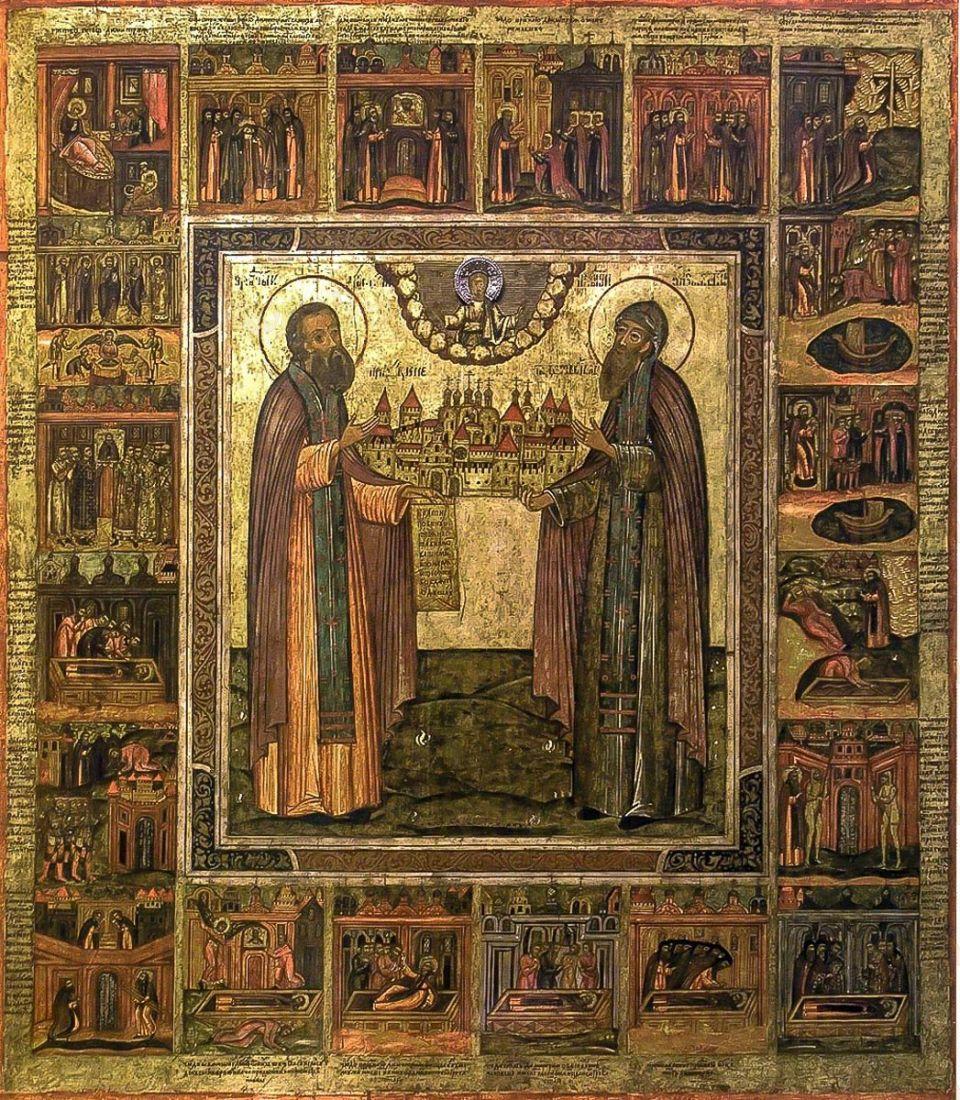 Икона Димитрий и Игнатий Прилуцкие (копия старинной)
