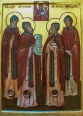 Алексий, Зосима, Герман и Игнатий Лебедевы (икона на дереве)