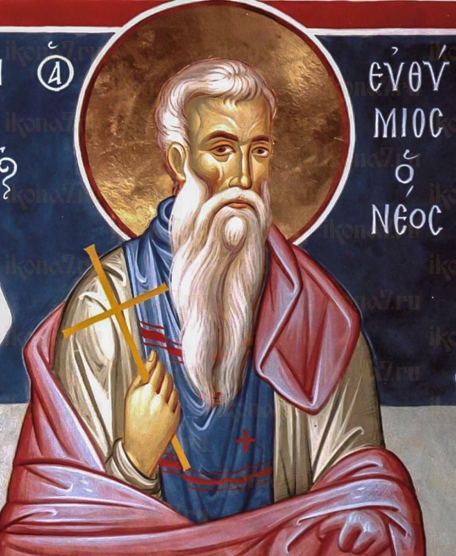 Евфимий Новый (Солунский) (икона на дереве)