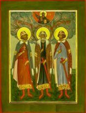 Антоний, Иоанн и Евстафий Виленские (икона на дереве)