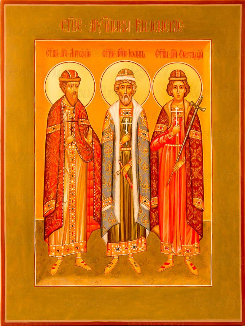 Икона Антоний, Иоанн и Евстафий Виленские