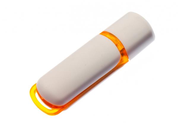 4GB USB-флэш корпус для флешки UsbSouvenir 235, белая-желтая