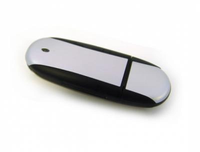 4GB USB-флэш корпус для флешки UsbSouvenir U204, Черный  серебро