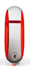4GB USB-флэш корпус для флешки UsbSouvenir U204, Красный  серебро