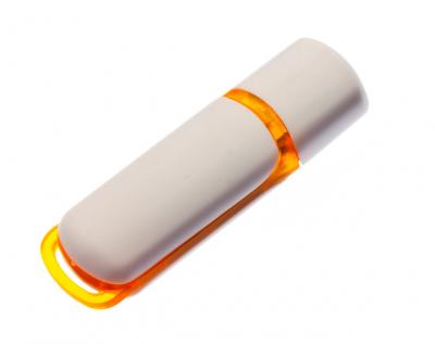 16GB USB-флэш корпус для флешки UsbSouvenir 235, белая-желтая