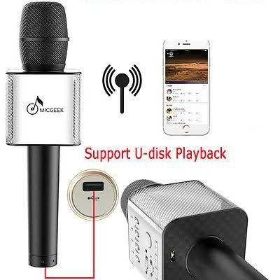 Караоке-микрофон Micgeek Q9 c Bluetooth (Black)