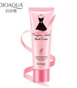 Парфюмированный крем для рук  от «BIOAQUA» с розовым маслом и молоком.(8027)