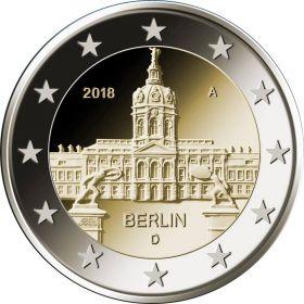 Берлин. Дворец Шарлоттенбург. 2 евро Германия 2018 Монетный двор на выбор