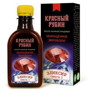 """""""Компас Здоровья"""" Масло льняное КРАСНЫЙ РУБИН, 200 мл"""
