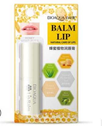"""Питательный бальзам для губ на основе меда Honey Moisturizes Balm Lip от  """" BIOAQUA"""".(4151)"""