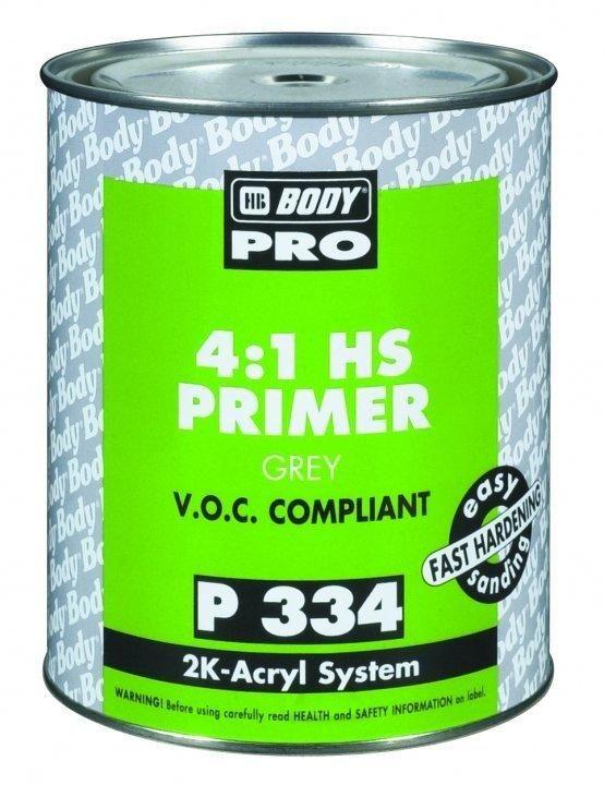 HB Body Грунт PRO 334 HS 4+1, серый, объем 1л.