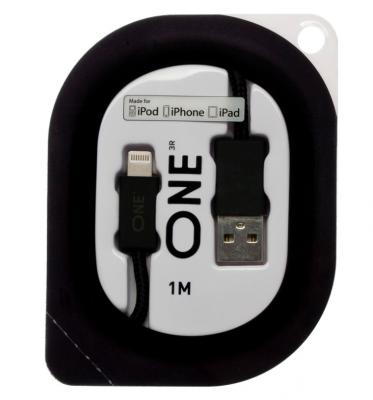 Провод ONE черного цвета для Apple (USB/Lightning)