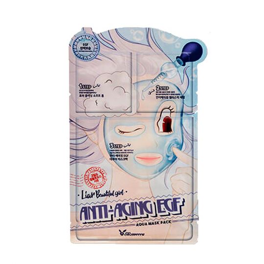 Elizavecca 3-шаговая маска для лица антивозрастная 3-step anti-aging Egf mask pack