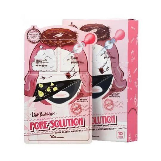 Elizavecca 3-шаговая маска для лица для проблемной кожи 3-step pore solution mask pack