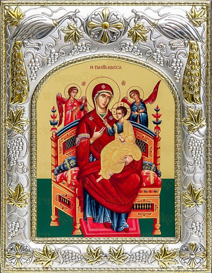 Всецарица (14х18), серебряная икона