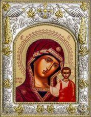 Казанская икона БМ (14х18), серебро