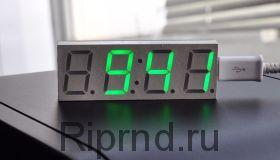 Часы Автомобильные (цвет синий)