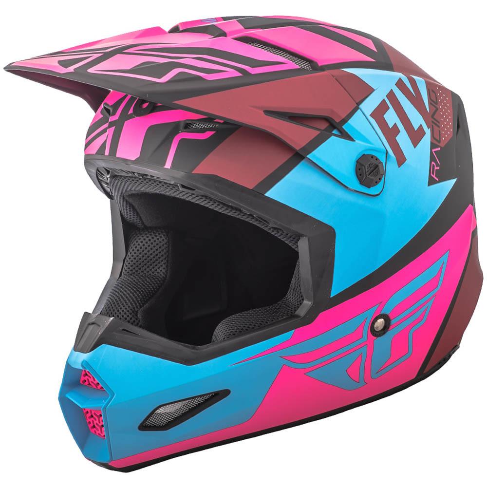 Fly - 2018 Elite Guild шлем, розово-сине-черный матовый