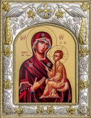 Тихвинская икона БМ (14х18), серебро