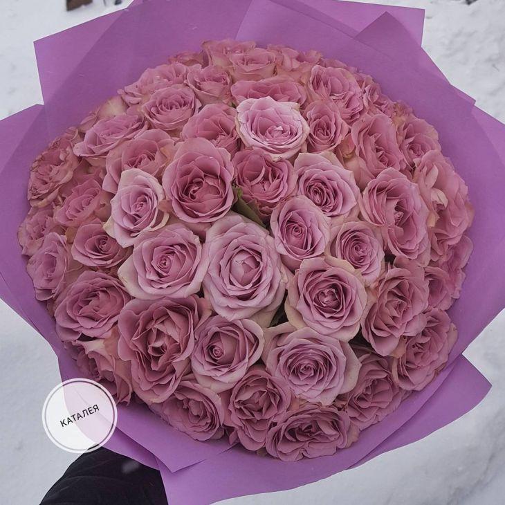 51 нежная роза -в матовой упаковке