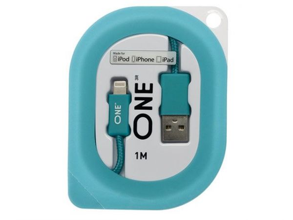 Провод ONE бирюзового цвета для Apple (USB/Lightning)