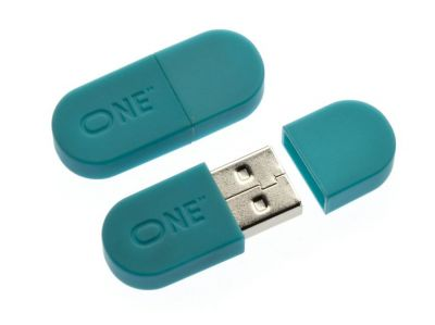 USB-флэш ONE 8GB бирюзового цвета