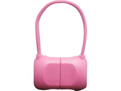 Кабель на Lightning 10см PQI BAG в форме сумочки (made for iPhone,iPad, iPod) розовый