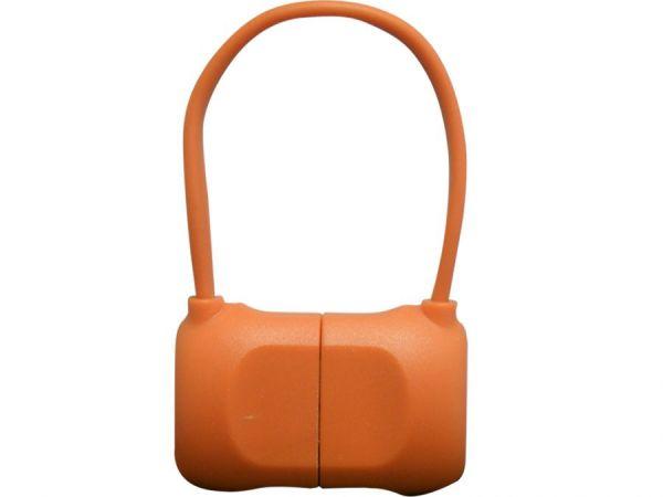 Кабель на Lightning 10см PQI BAG в форме сумочки (made for iPhone,iPad, iPod) оранжевый